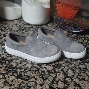 Steve Madden Gills Platform SlipOn Sneaker Gray 7W